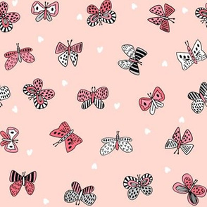 spring butterflies // nature botanical print girls butterfly fabric sweet flutterby design