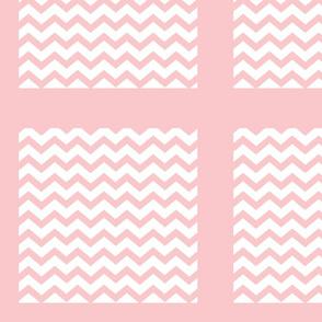 Chevron2  QUILT square 12 - pink