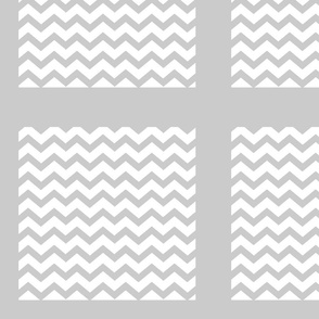 Chevron2  QUILT square 12 - light gray