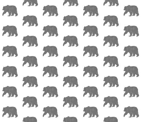Bear on White fabric by visualpoetry on Spoonflower - custom fabric
