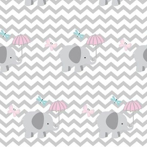 Chevron Elephant 4- light gray