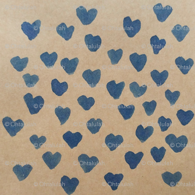 Blue Ink Hearts