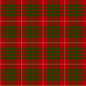 "Cameron tartan, 2"" red/green"