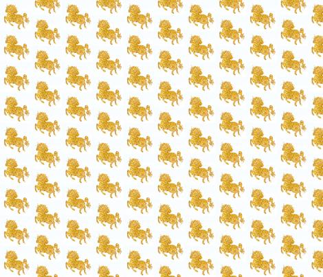 Gold Glitter Unicorn fabric by modfox on Spoonflower - custom fabric