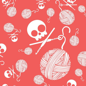 Yarn-Skull-and-Yarn-Toss-Mango-Pink