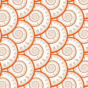 "caught in a time spiral (orange, 3"")"