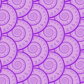 "mad clock spirals (lavender/purple, 3"")"