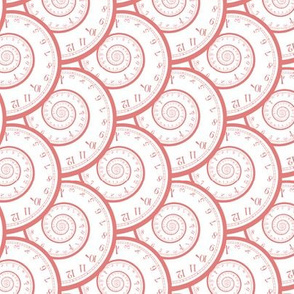 "clock spirals (coral, 3"")"