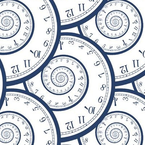 "clock spirals (6"", navy)"