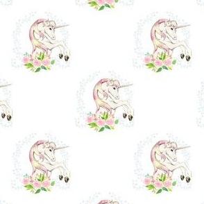 "3.5"" Sweet Floral Unicorn - Large Spacing"