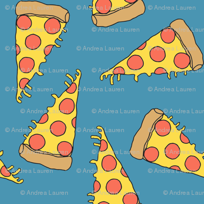 Pizza blue pizza junk food fabric cute pizza design for Space pizza fabric