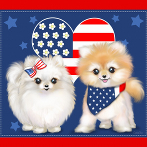 Patriotic Pomeranians panel