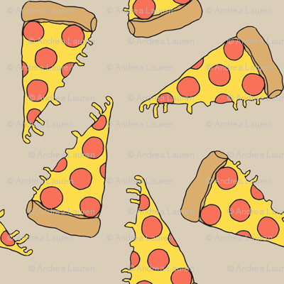 pizza // khaki pizza fabric junk food design junk foods design pizza fabric