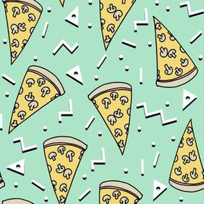 pizza party // mint pizza design pizzas fabric kids mint design