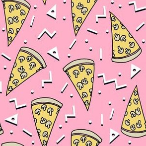 pizza party // pink pizza junk food veggie pizza food pizza fabric