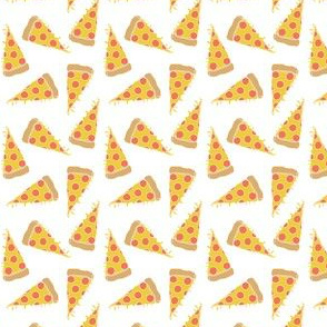 pizza // pizzas small white background fabric junk food food fabric