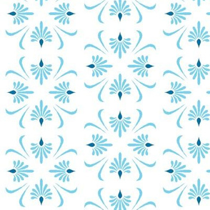 Art Deco blue pattern