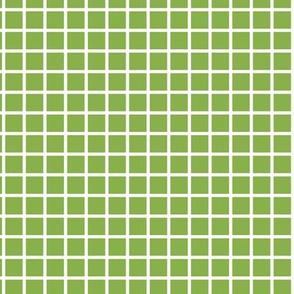 Grid - Greenery & White