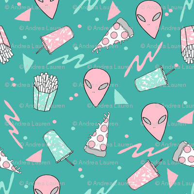 Drive thru alice space 90s drive through fabric pizza for Space pizza fabric