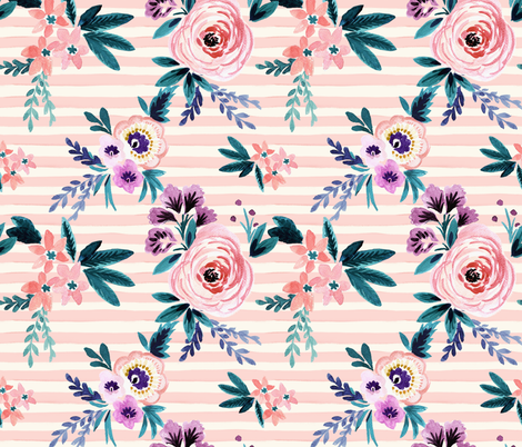 Victoria Blush Stripe fabric by crystal_walen on Spoonflower - custom fabric