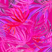 Magenta pink palm , watercolor,