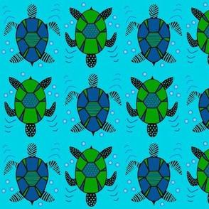 Sea Turtle Stirrup - blue