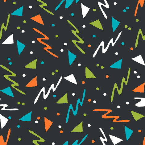 80s Design 90s // space alien squiggles abstract shapes rad retro fabrics 90s