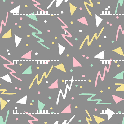 90s // grey mint pink pastel 80s 90s fabric skating rink design