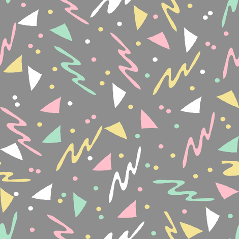 90s // grey mint pink pastel 80s 90s fabric skating rink design fabric by andrea_lauren on Spoonflower - custom fabric