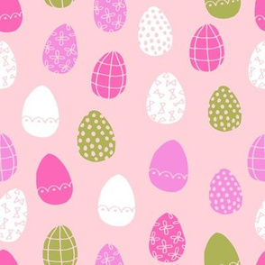easter eggs // pink and mint fabric easter egg bunny fabric pastel fabrics
