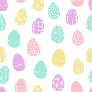 easter eggs // pastel easter egg spring fabric pastels cute easter egg design fairy kei