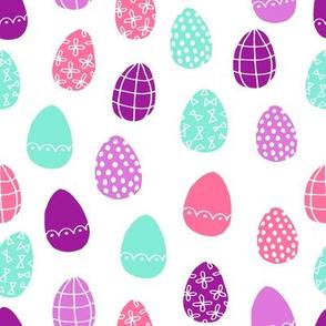 easter eggs // brights easter egg fabric egg spring design painted eggs