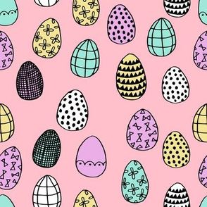 easter eggs // pastel egg fabric easter rabbit bunnies fabric spring pastels fabric