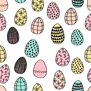 easter eggs // pastel pink yellow mint pastel spring fabric cute spring design andrea lauren fabric