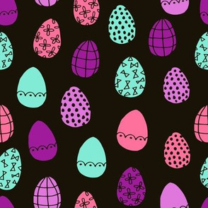 easter eggs // bright easter fabric easter eggs design pastel brights fabrics