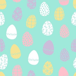 easter eggs // spring pastels fabric spring fairy kei girls easter eggs design cute easter fabric