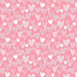 hearts - mini valentines fabric mini hearts cute micro print