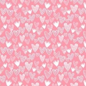 hearts - mini valentines fabric mini hearts cute micro print