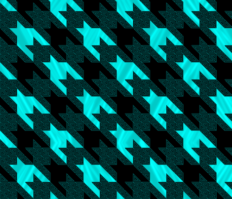 Houndstooth_swirl_Aurora_Borealis_4 fabric by deanna_konz on Spoonflower - custom fabric