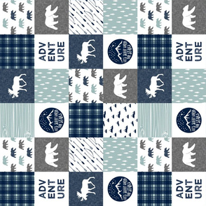 "3"" small scale (90)- patchwork the happy camper wholecloth 