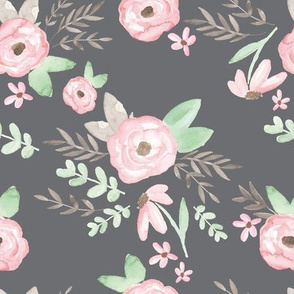 Charlotte Floral Charcoal