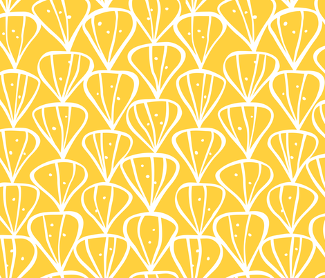Petals yellow fabric by inkandcraft on Spoonflower - custom fabric