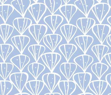 Petals sky blue fabric by inkandcraft on Spoonflower - custom fabric