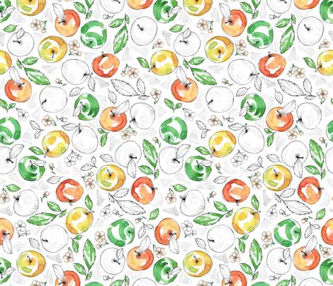 Fruits - Apple large fabric by susannekasielke on Spoonflower - custom fabric