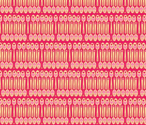 #SAGE Tea little love spoons fabric by floramoon on Spoonflower - custom fabric