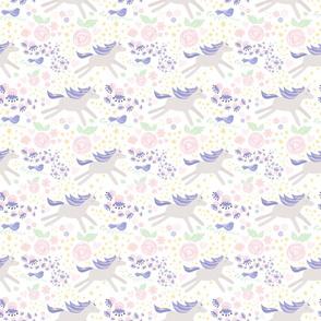 Unicorn Dreams Bright Amelia on White