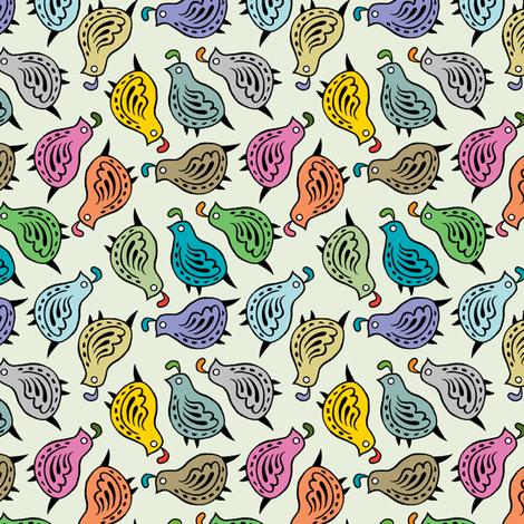 quaint quail fabric by andiart on Spoonflower - custom fabric