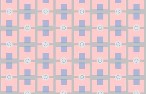 Pink  Blue and Grey Geometric fabric by erica_lindberg_designs on Spoonflower - custom fabric