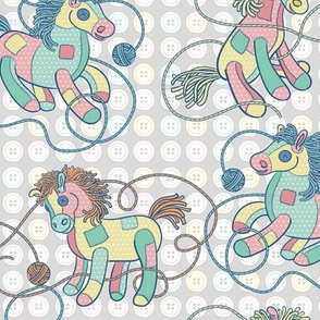 Patchwork Ponies in Gray