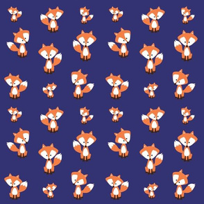 Foxes, Dapper Foxes, Fancy Foxes,Grey and Navy , Boys Fabric